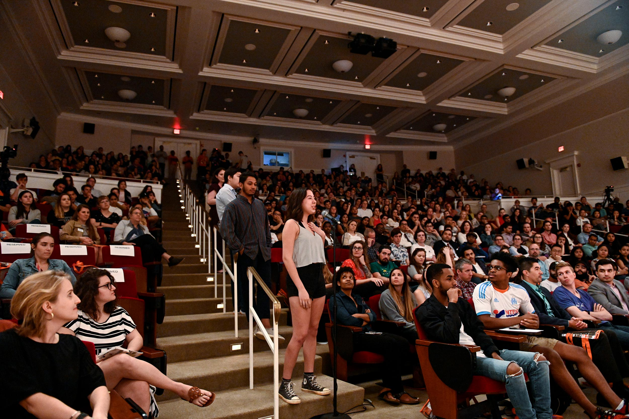 A large crowd turned out to welcome Ohanian back to UVA.
