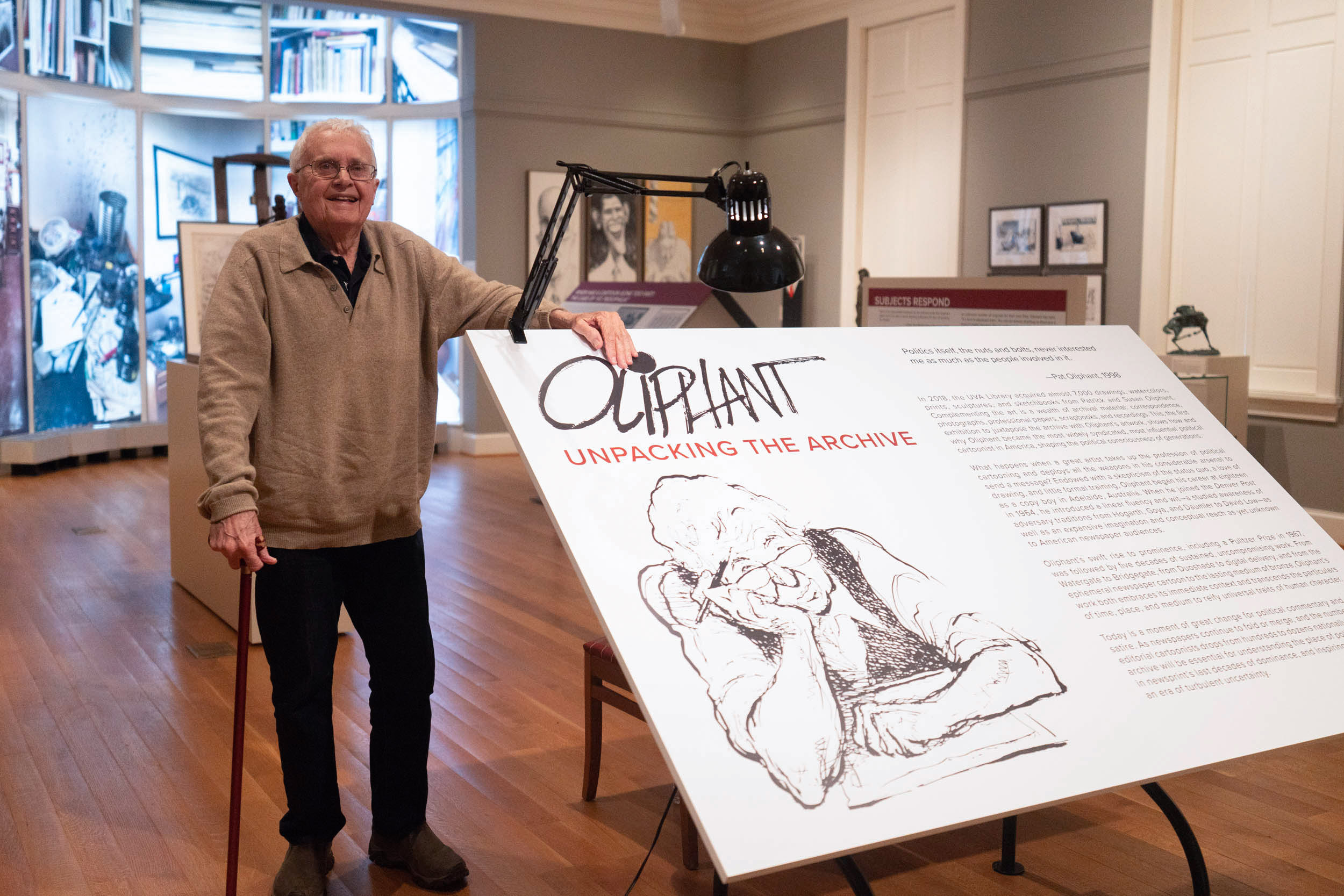 Oliphant emigrated from Australia to the U.S. in 1964 to enjoy the ideals of free speech in the newspaper industry and worked here for about 50 years.