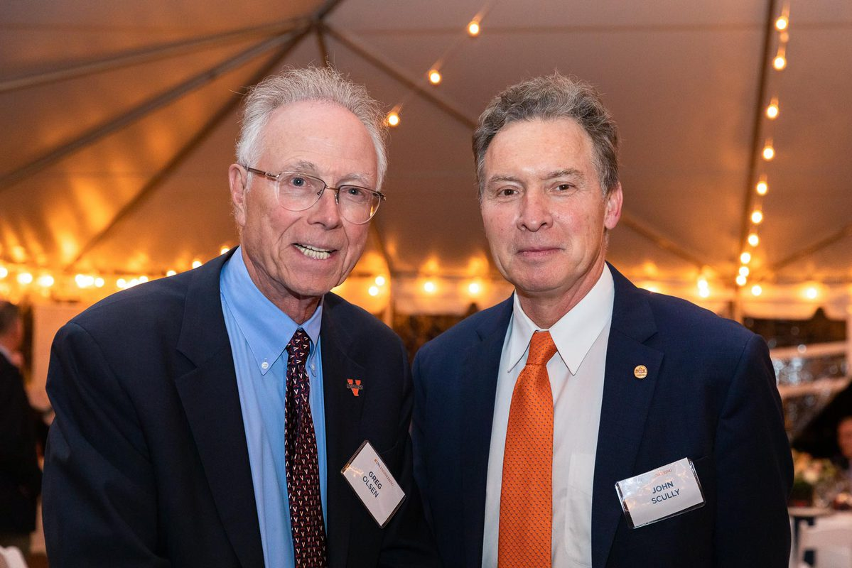 Alumnus Greg Olsen's historic gift will enable Engineering Department Chair John R. Scully to support strategic initiatives.