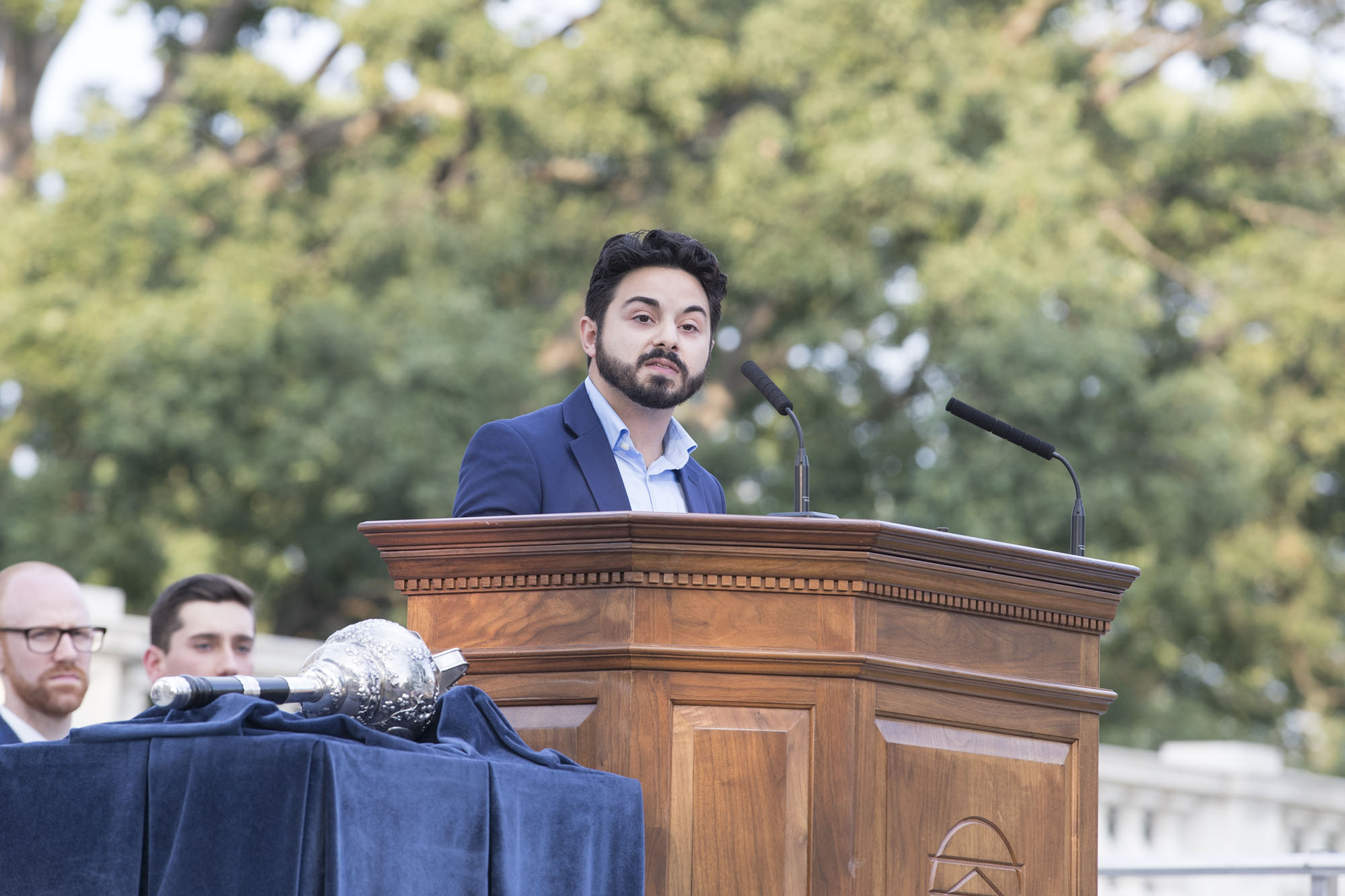 Student Council President Alex Cintron addressed the importance and the meaning of student self-governance at the University.
