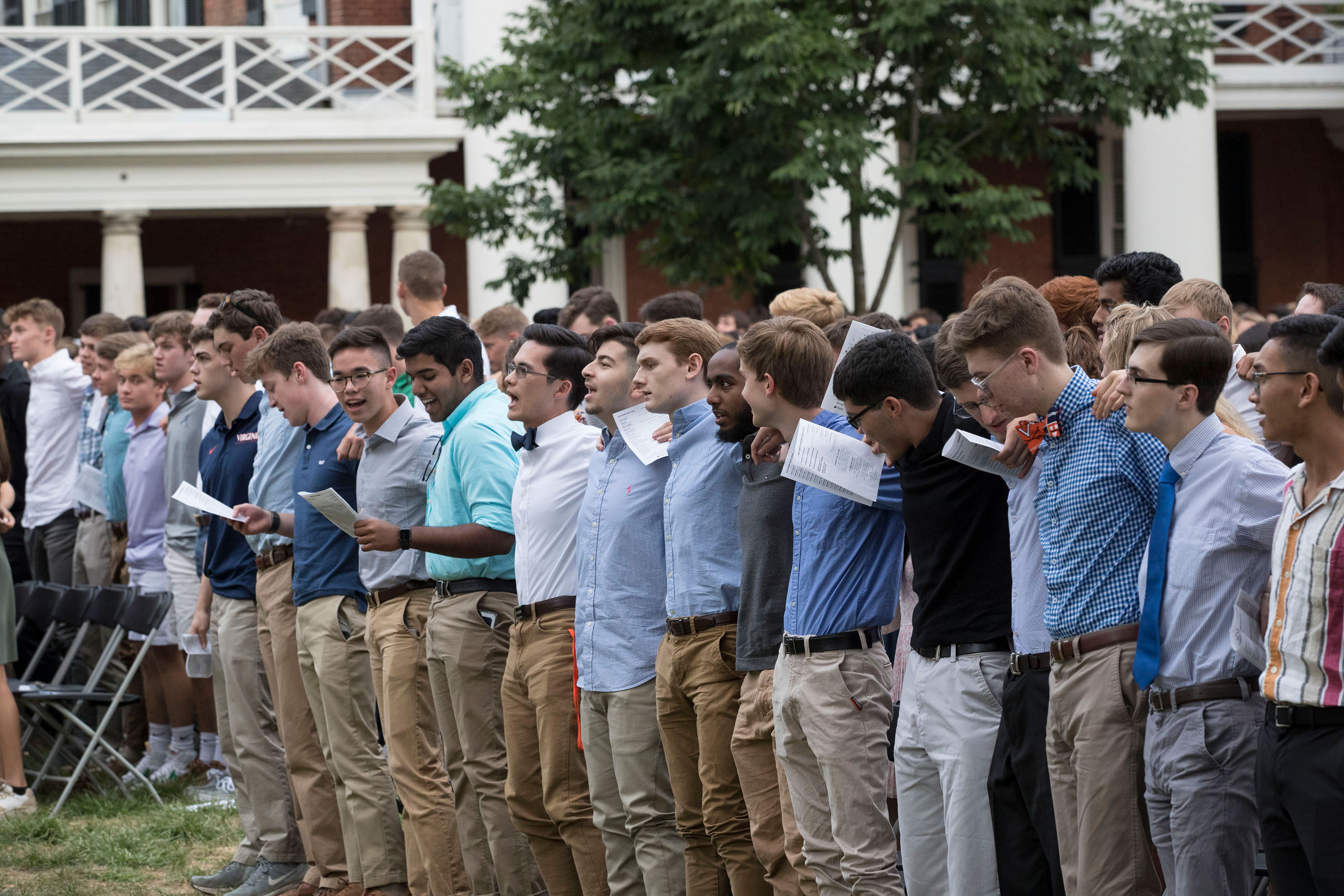 The Class of 2023 sang the Good Old Song together for the first time on Sunday at Opening Convocation.