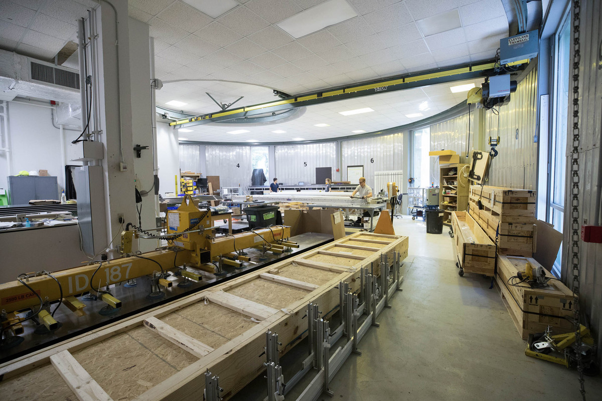 The High Energy Physics Lab's assembly area.