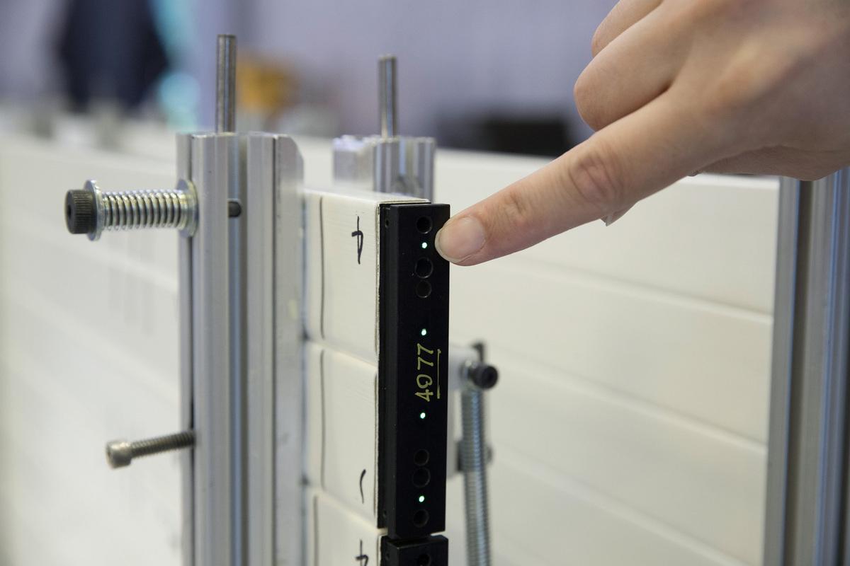 Optical fiber in a di-counter.