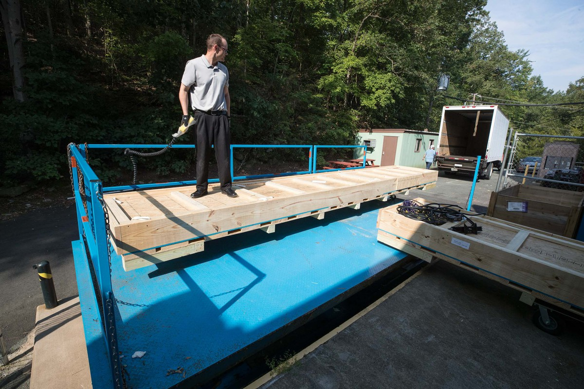 In September, professor Craig Group prepared the first module for shipment to Fermilab.