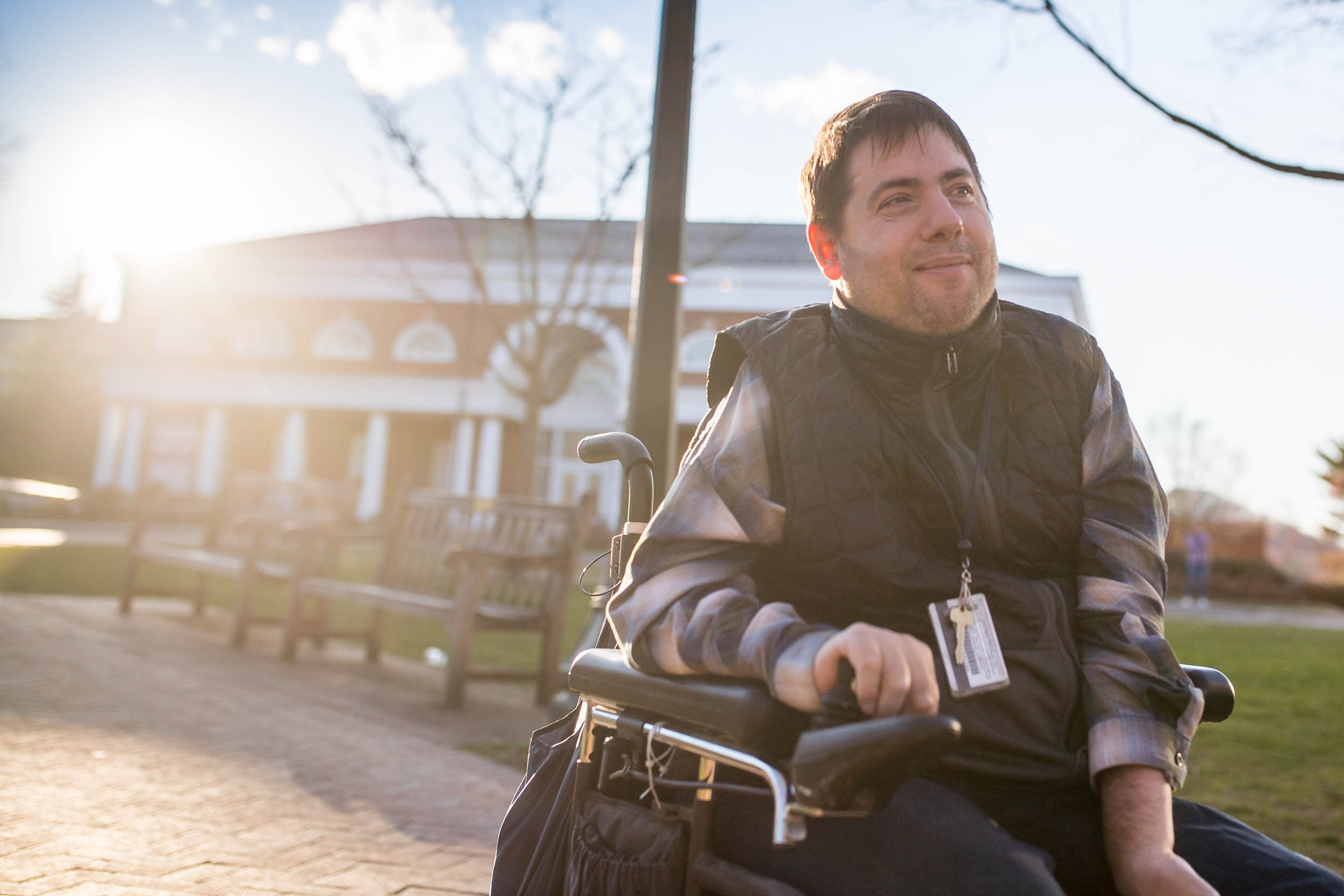 A bicycle accident when he was 12 left Guest paralyzed. He began writing poetry in high school.