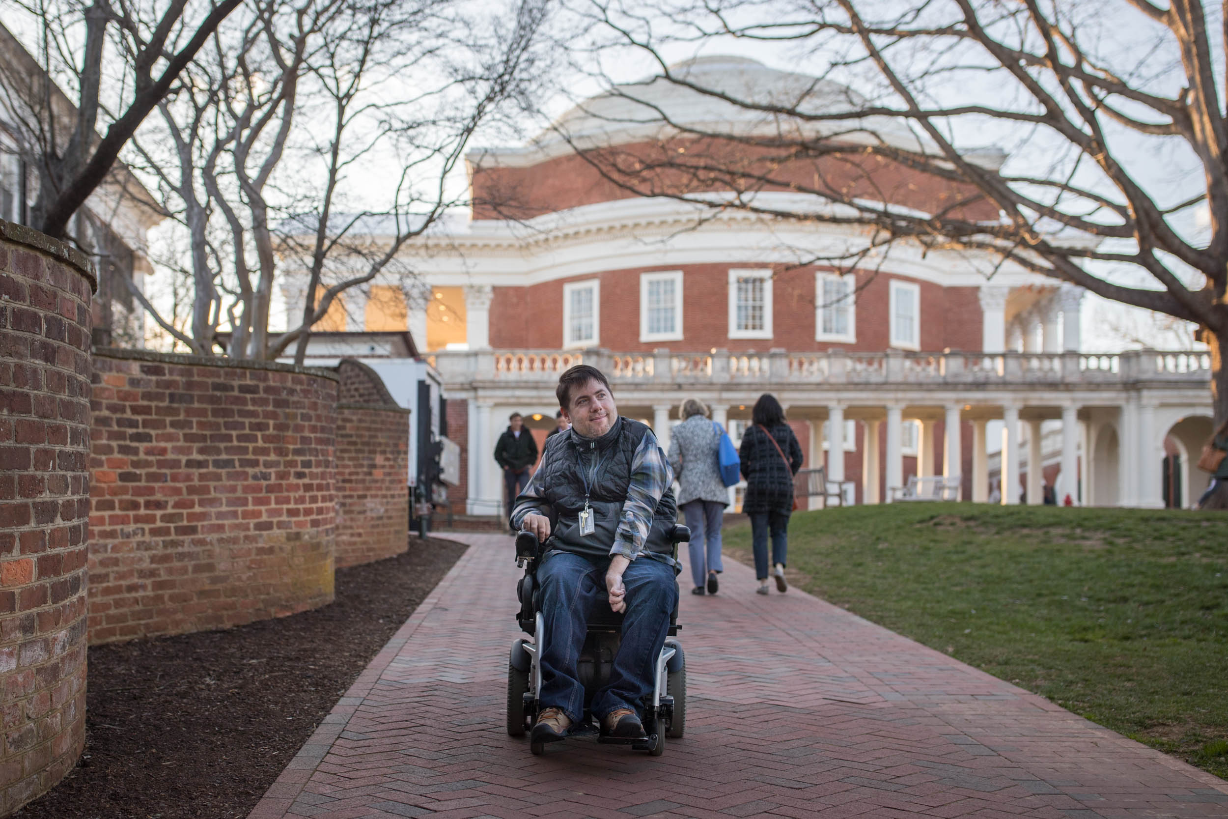 Guest is a member of the UVA Disability Advocacy and Action Committee, which works on improving access in a variety of ways, from physical mobility to educational opportunities in disability studies.