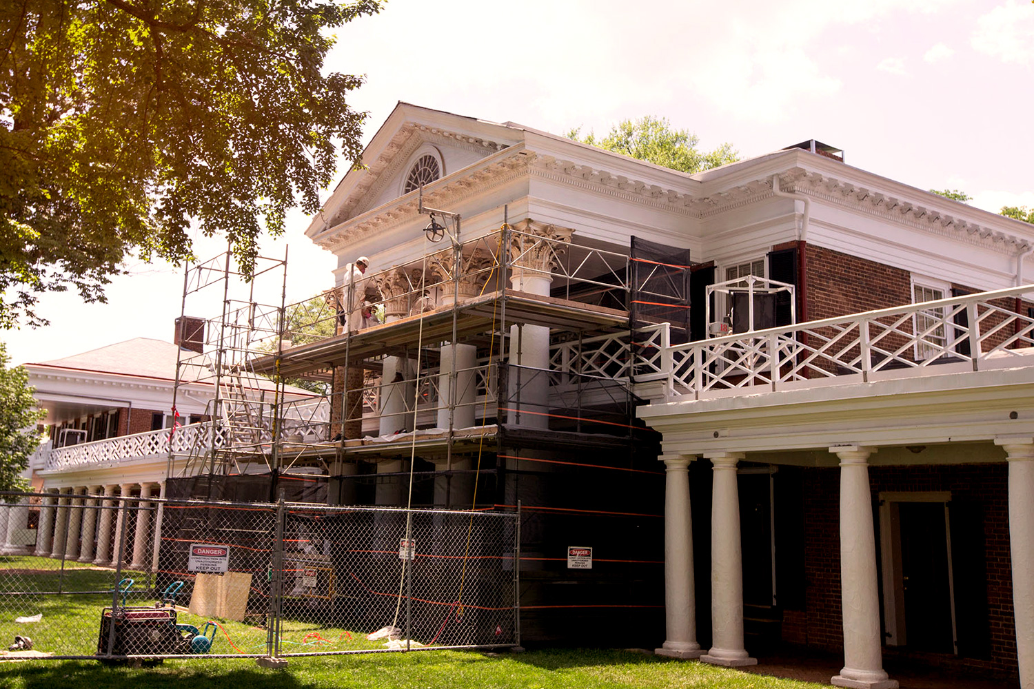 The interior work will be completed in the summer and the exterior work will extend into the fall.