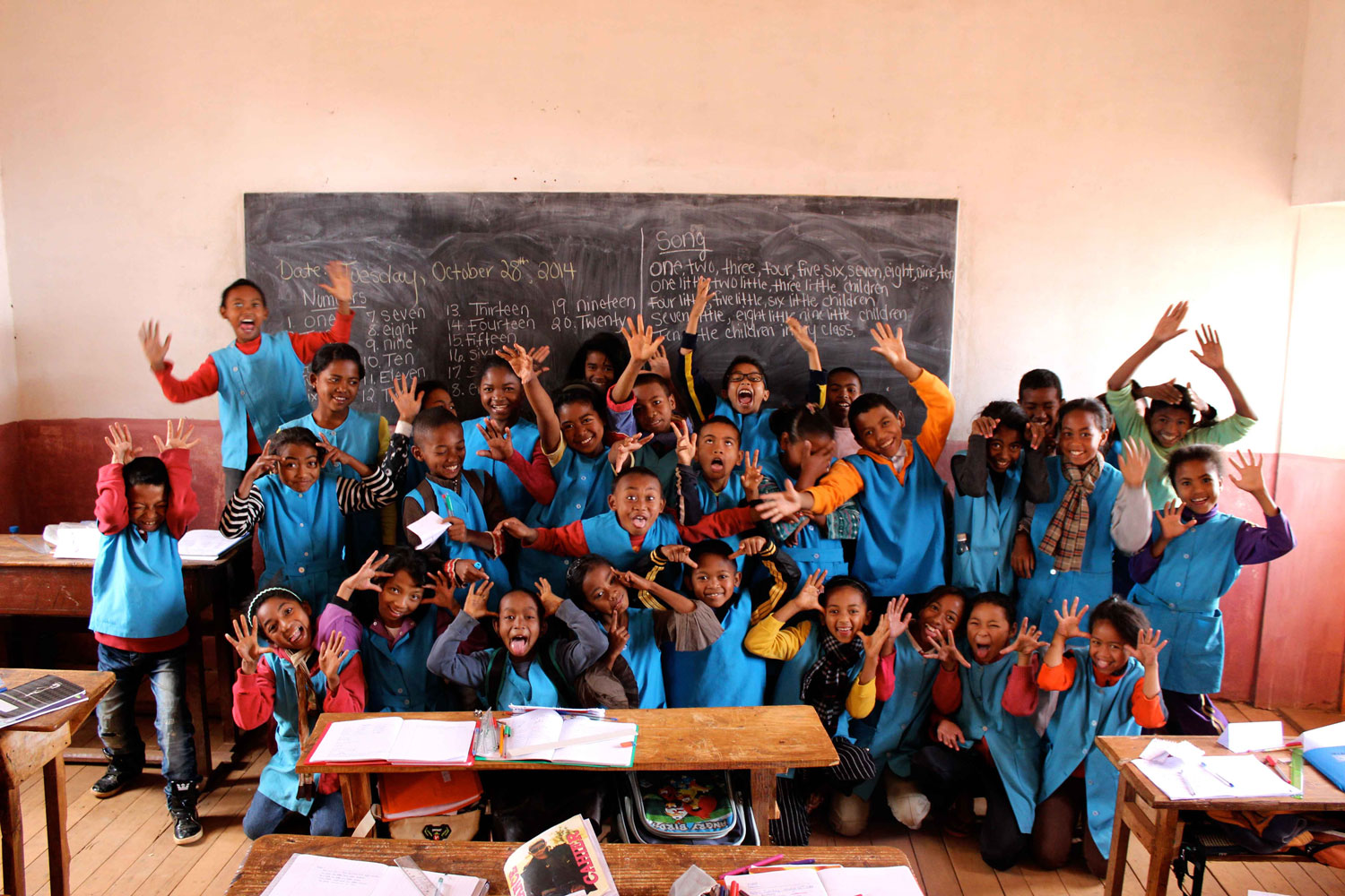 Students in former Peace Corps volunteer Julia Shafer's class in Antanifotsy, Madagascar in 2016. (Contributed photo)