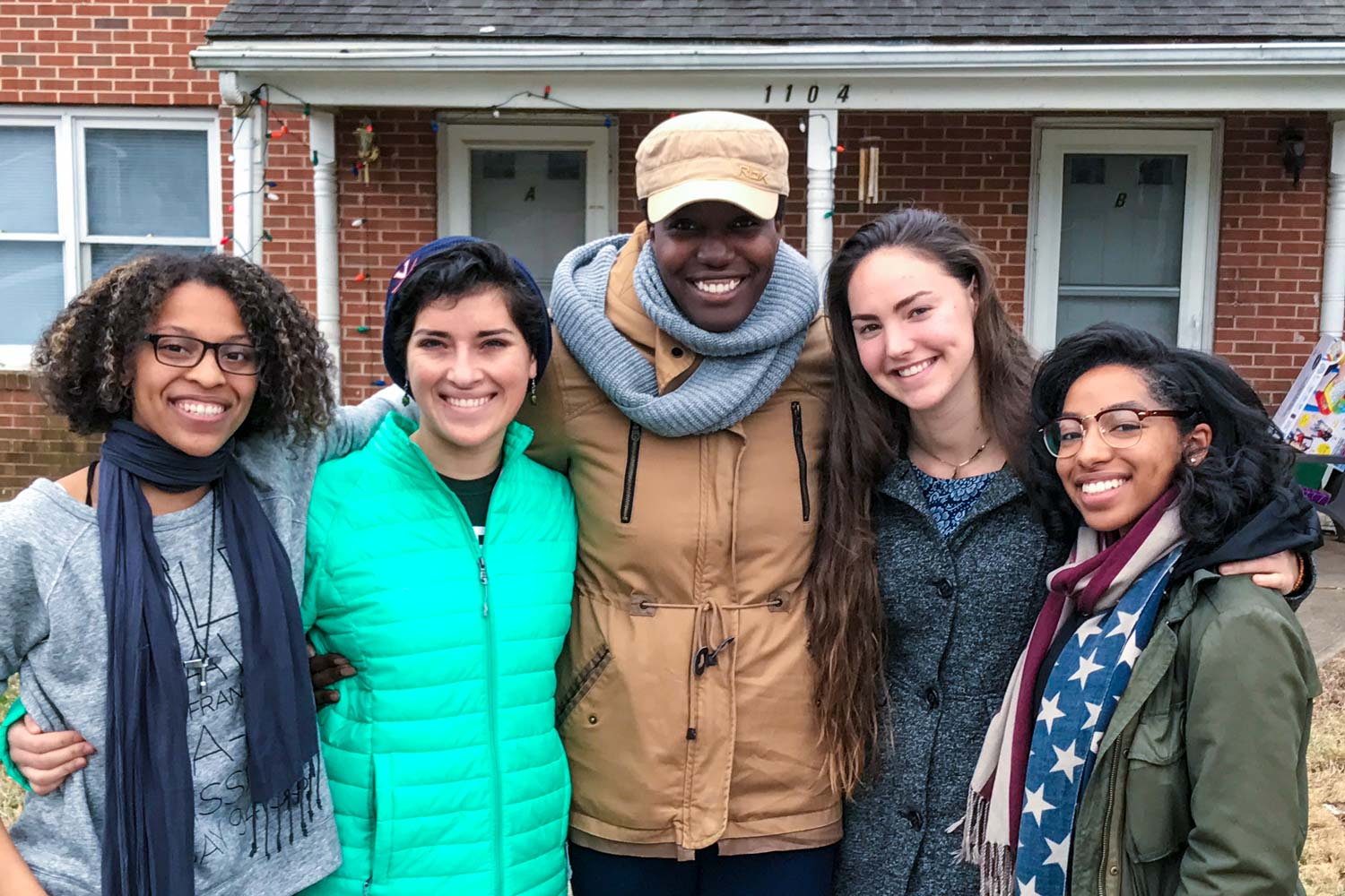 Third-year students Ameenah Elam, Sarah Bland, Sade Akinbayo, Isabella Hall and Dominique DeBose will be the first residents of The Perkins House. (Contributed photo, taken earlier this year)
