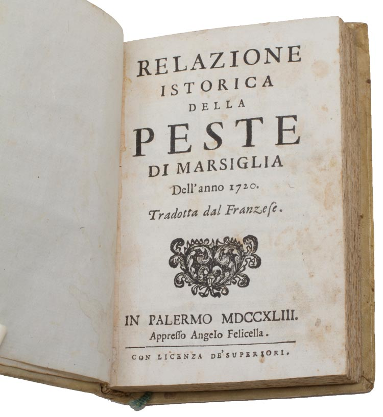 This book, translated from French into Italian, is a historical account of the 1720 plague in Marseille.