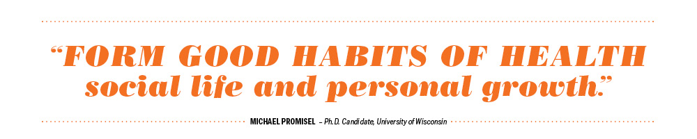QUOTE: From good habits of health social life and personal growth.