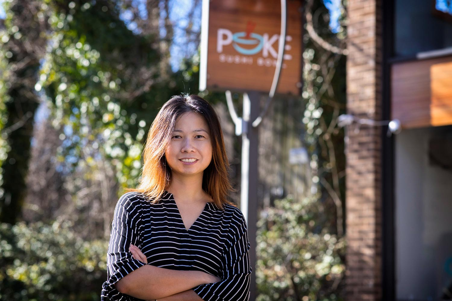 Phung Huynh and her husband, Bo Zhu, opened Poke in 2016.