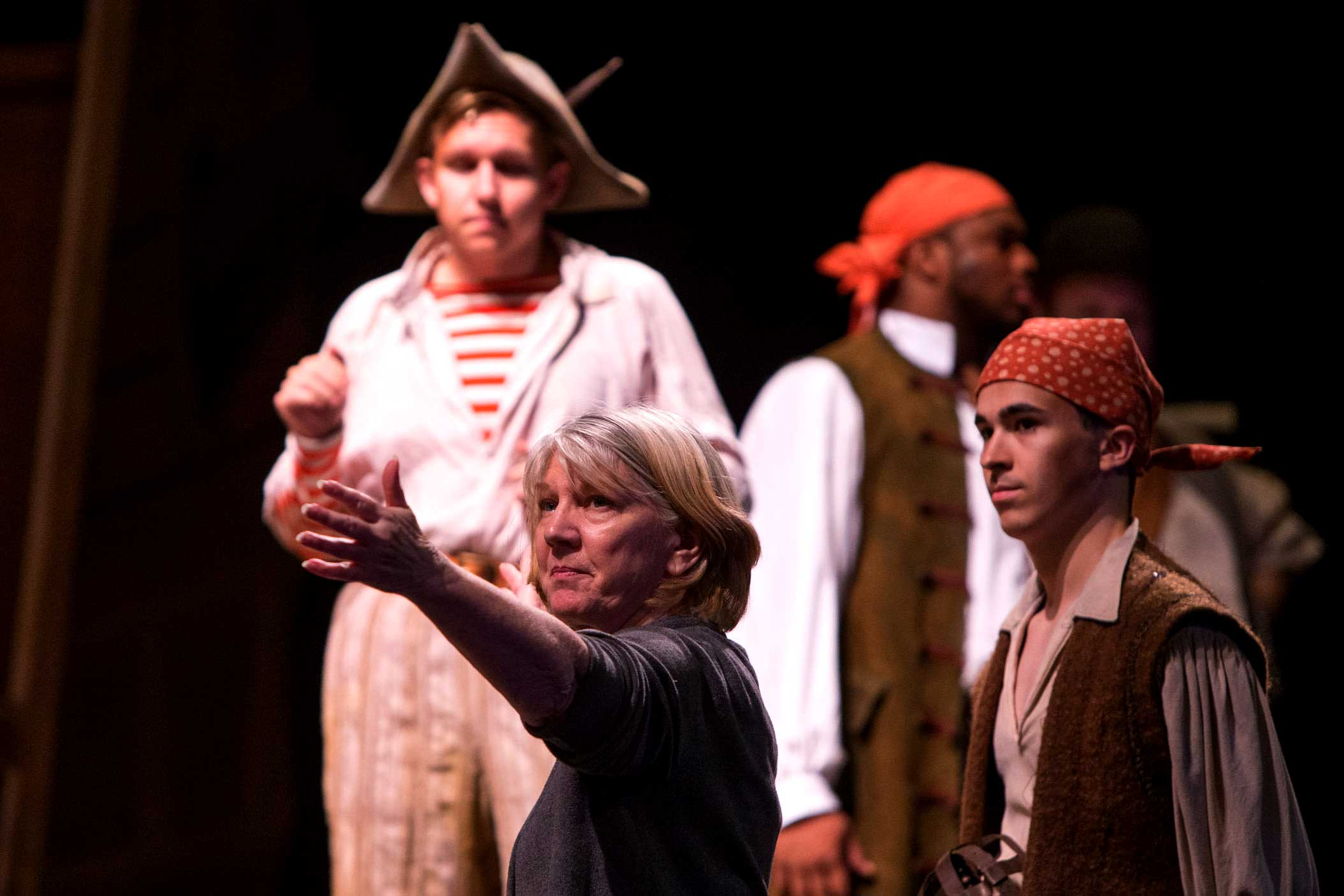 "A scene from a dress rehearsal of ""The Pirates of Penzance."" (Photo by Dan Addison, University Communications.)"