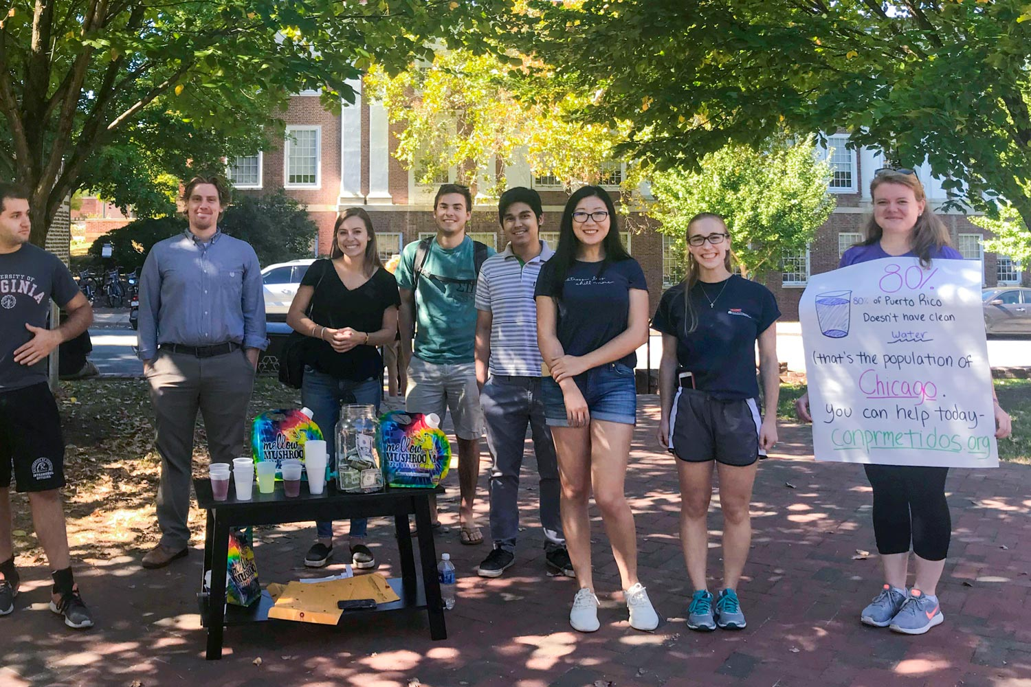 Batten School students recently raised money for ConPRmetidos, an independent, nonprofit, nonpartisan organization focusing on long-term relief and recovery efforts in Puerto Rico.
