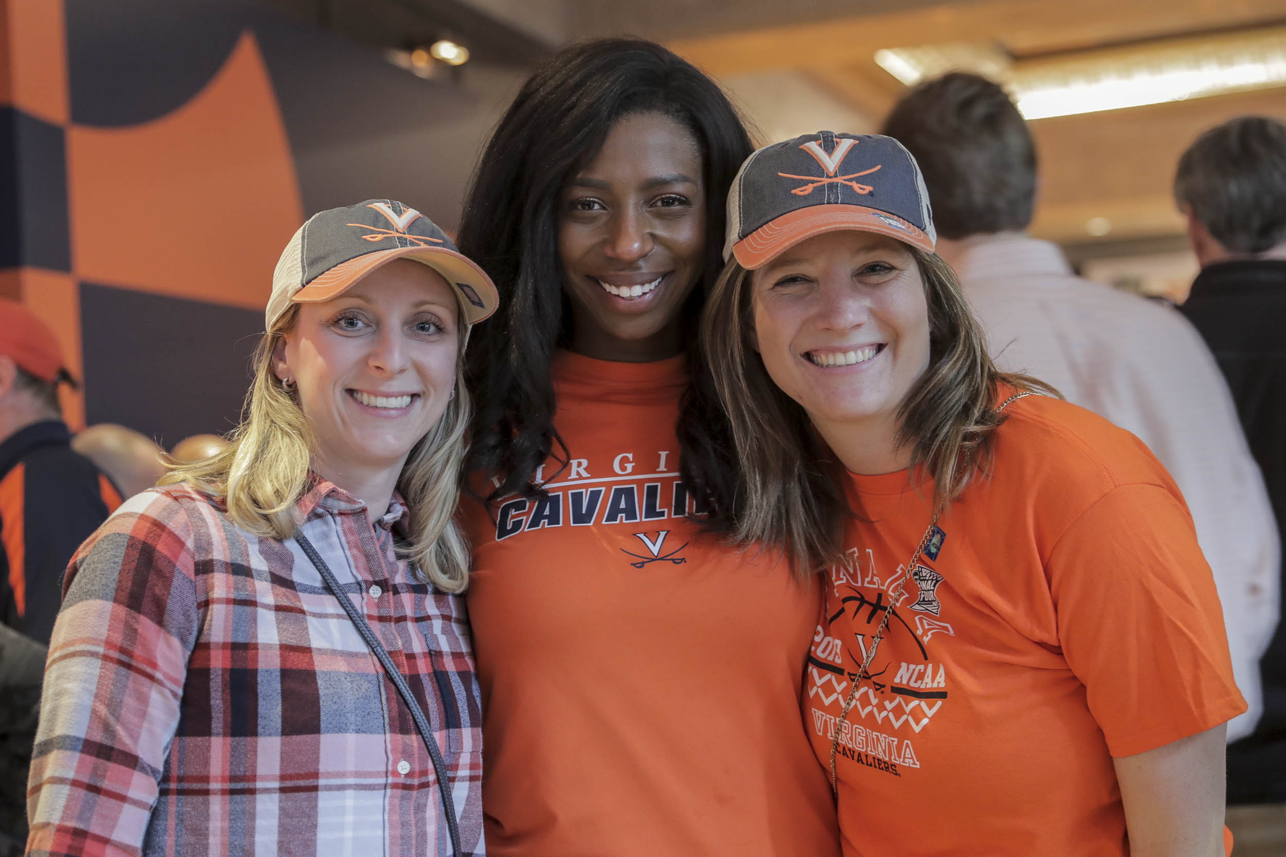 Alexa Pao, Jasmine Paul and Julie Tumasz were roommates at UVA and reunited for the Final Four.
