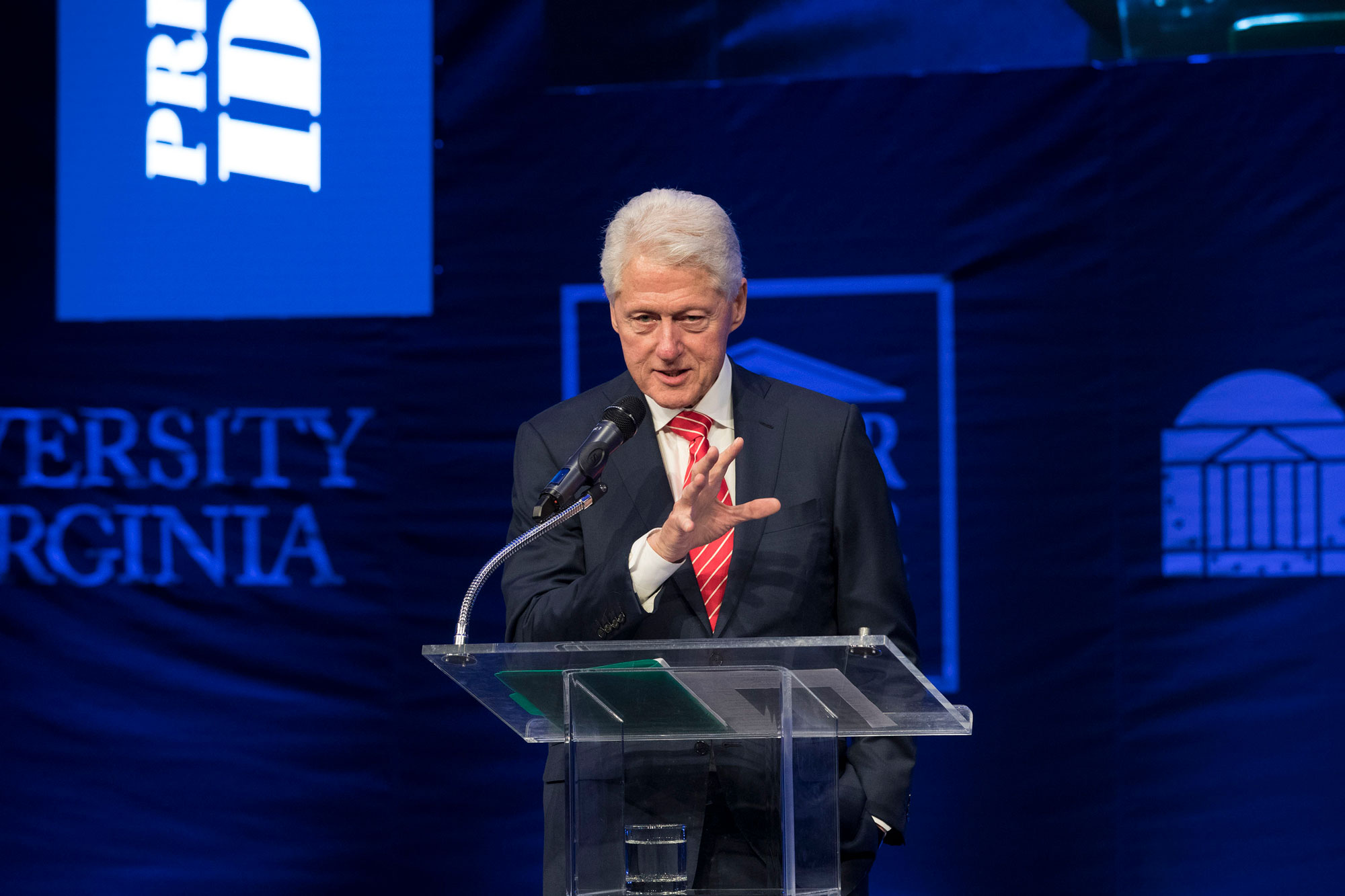 Former President Bill Clinton reflected on his time in the Oval Office and the larger arc of the American presidency. (Photo by Dan Addison, University Communications)