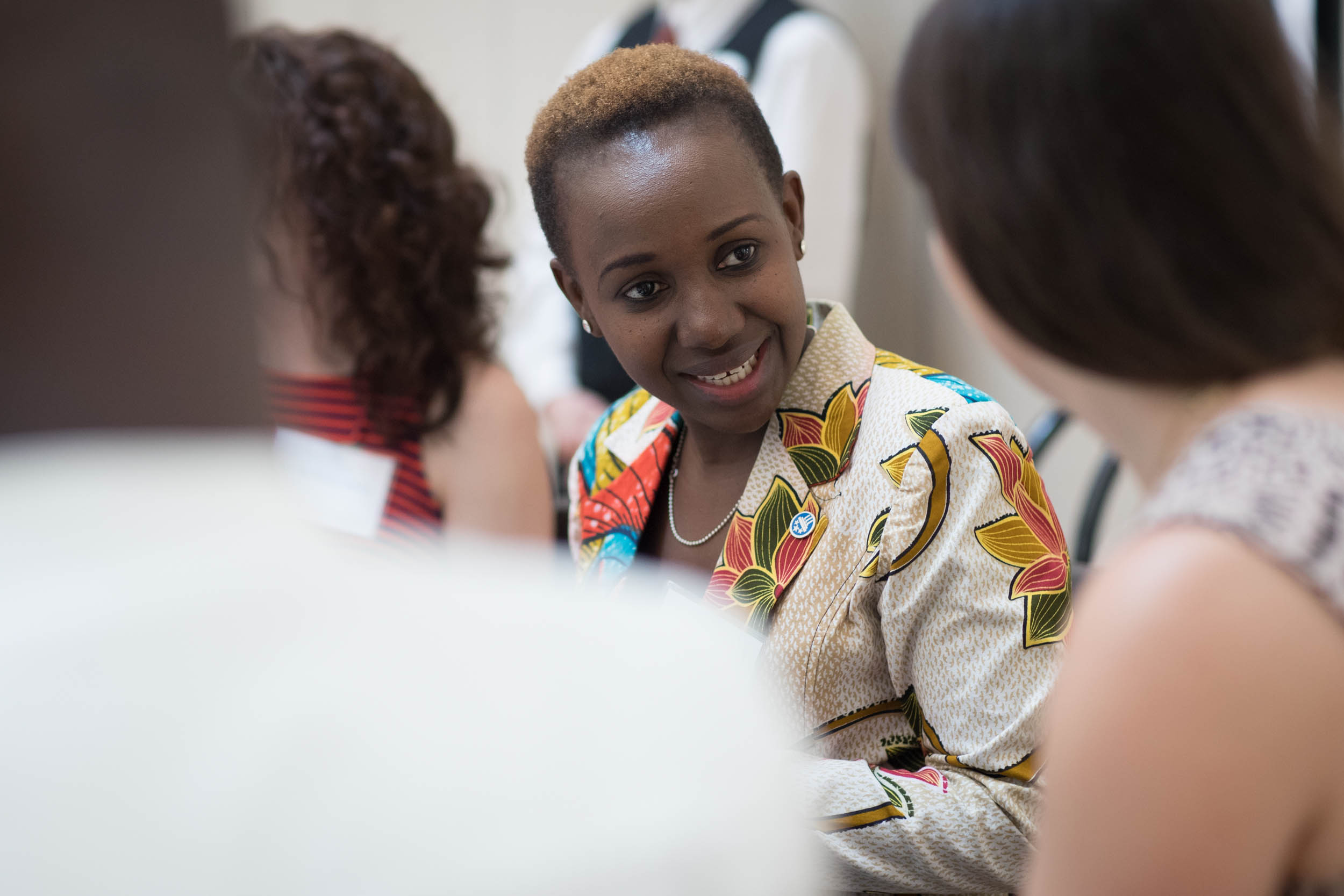 Mandela Washington Fellow Neema Kiswaga of Tanzania is the founder of Leadership Ladder, a group dedicated to empowering individuals and organizations to grow and flourish as leaders. (Photo by Sanjay Suchak, University Communications)
