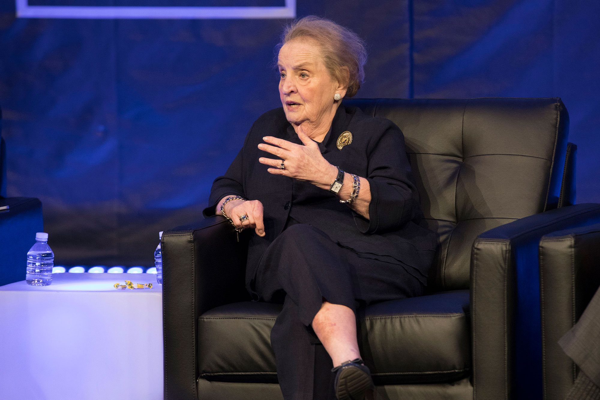 Madeleine Albright said America's relationship with China should be a top concern for any president or presidential candidate. (Photo by Dan Addison, University Communications)