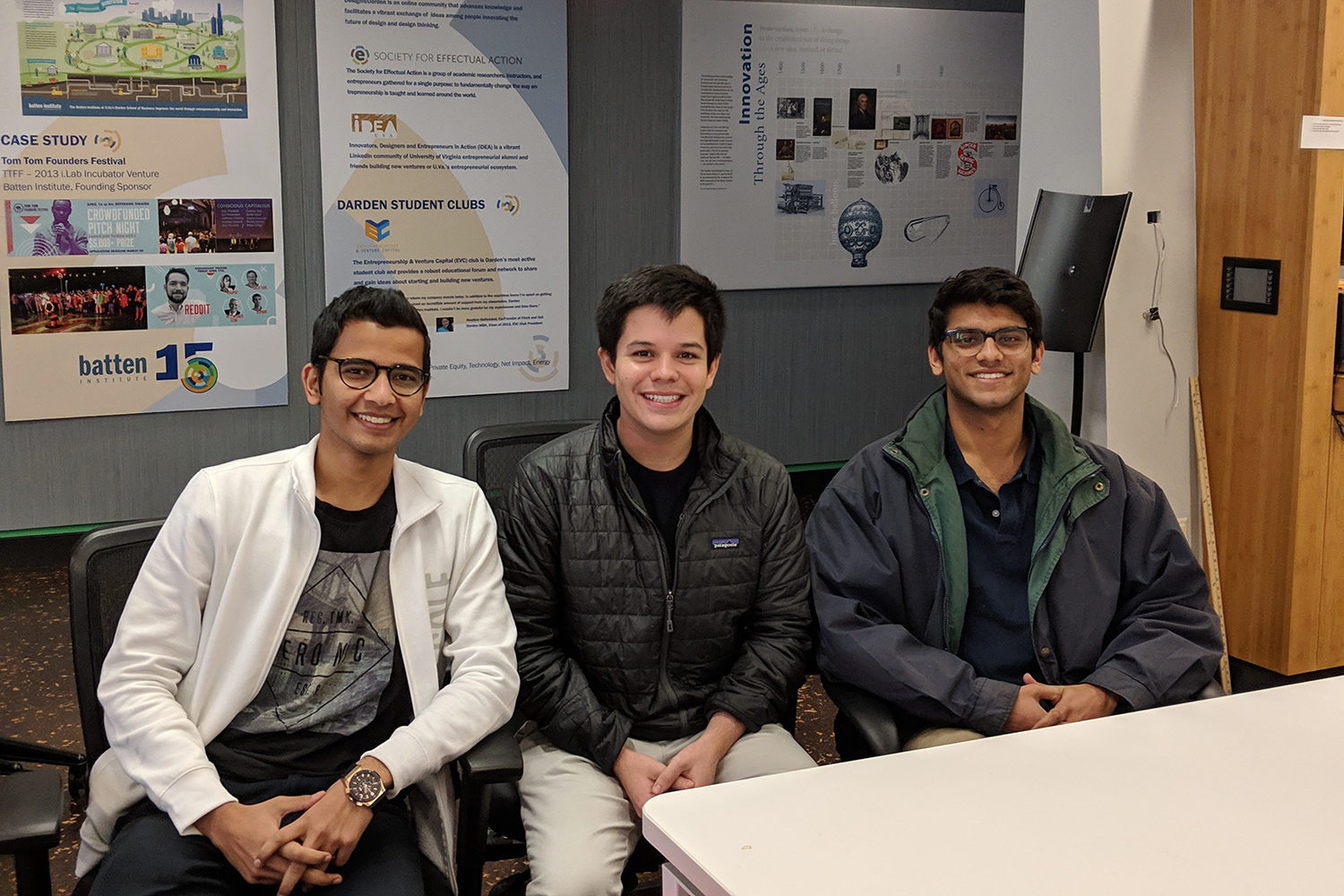 The PurPics team of Raahish Kalaria, Victor Layne and Aneesh Dhawan are applying principles of social entrepreneurship to reach Generation Z consumers.