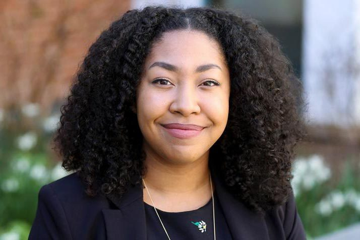 Law student Rachel Barnes has been elected vice chair of the National Black Law Students Association. UVA Law's chapter was chapter of the year in 2018. (Photo by Julia Davis)
