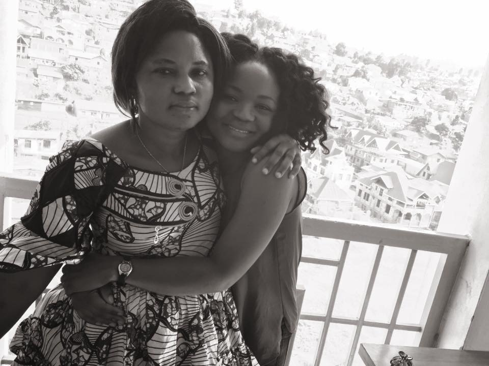 "Rebecca Abdul and her mother, Masida ""Mimi"" Mwanamimi, in 2017 during a visit to Bukavu, Democratic Republic of Congo."