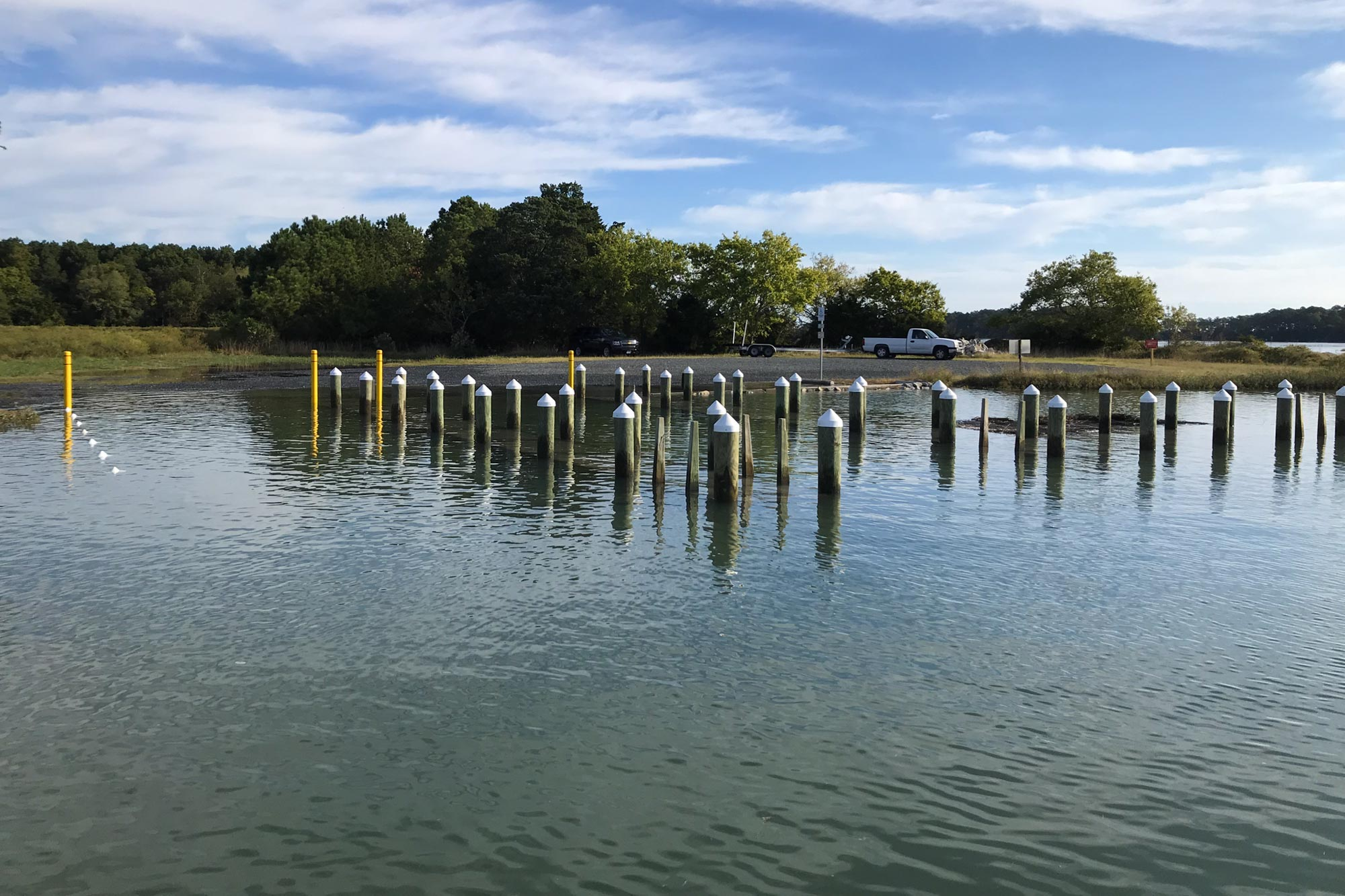 The king tide flooded infrastructure, like boat ramps used daily by commercial watermen. As sea levels continue to rise, these flooding events are expected to increase.