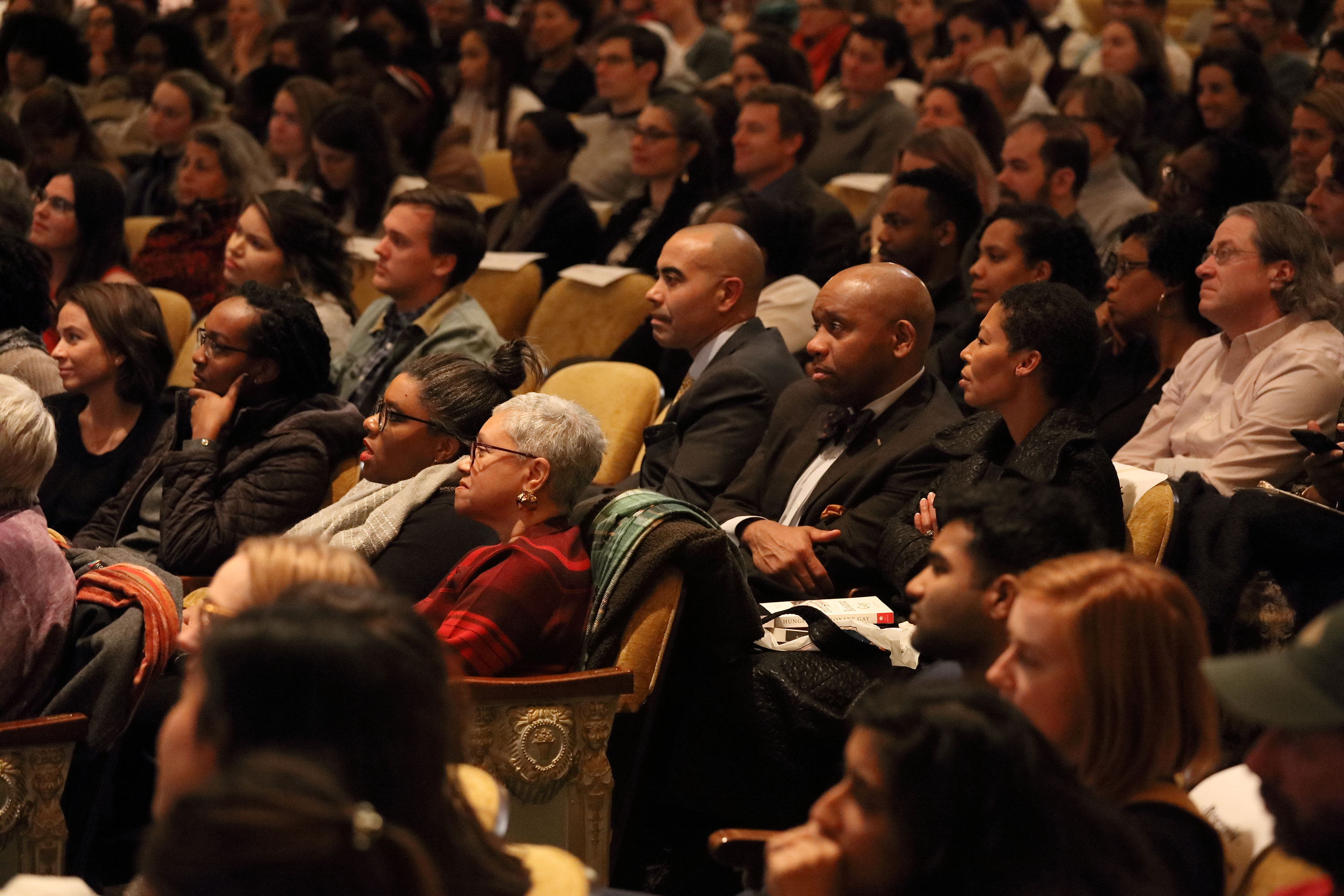 The packed house included UVA faculty, staff, and students and members of the Charlottesville community.