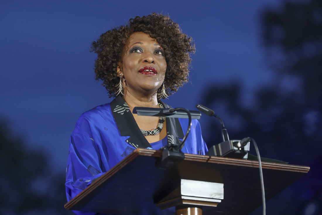 Former U.S. Poet Laurette Rita Dove, a UVA English professor, delivered two poems during the evening.