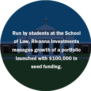 Run by students at the School of Law, Rivanna Investments manages growth of a portfolio launched with $100,000 in seed funding.