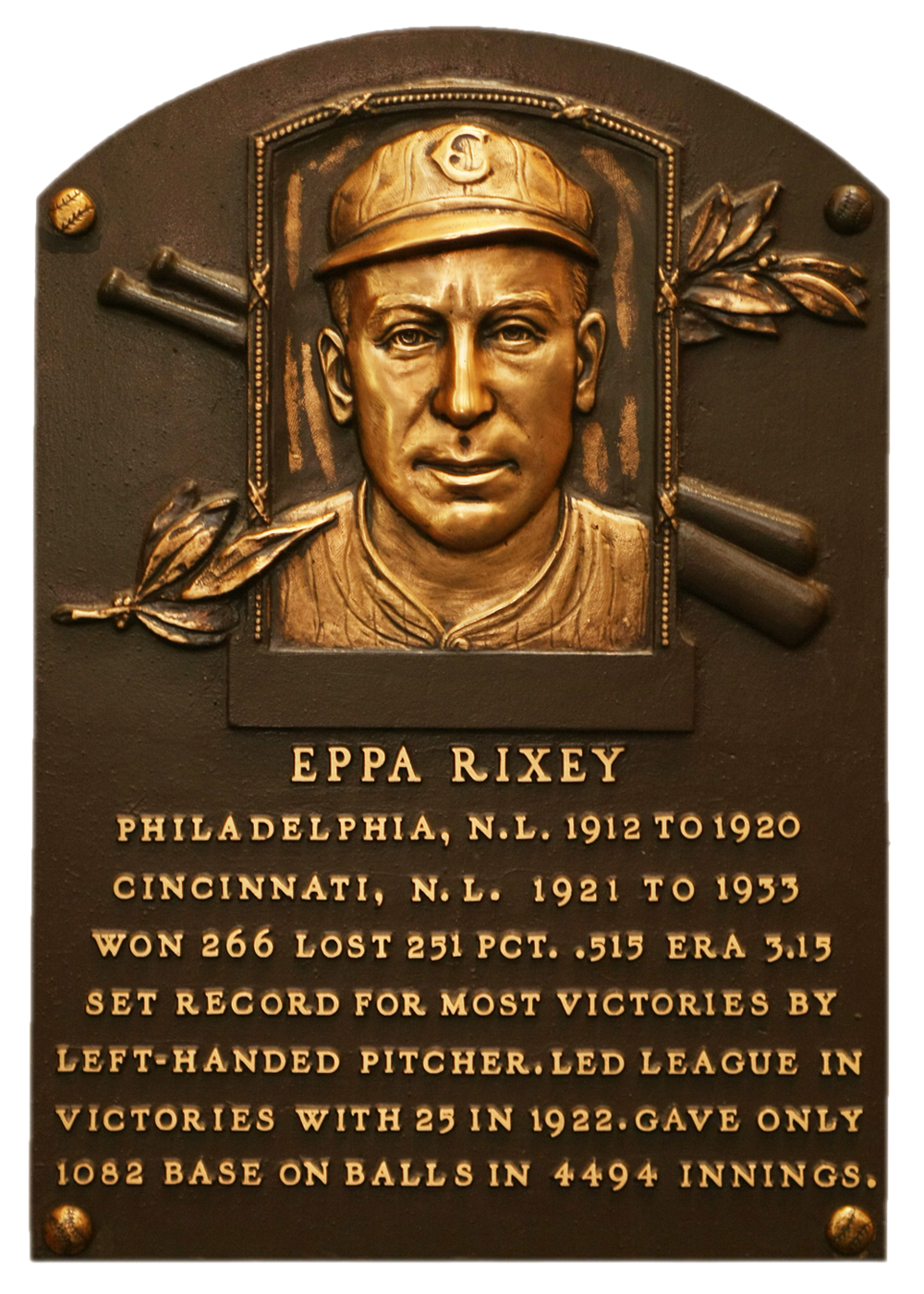 Culpeper native Eppa Rixey is the only former Cavalier in the Baseball Hall of Fame.
