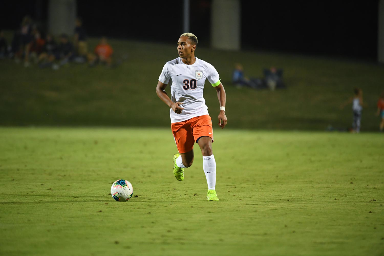 "UVA defender Robin Afamefuna's goal against George Washington University on Tuesday night was ESPN's ""Top Play."""