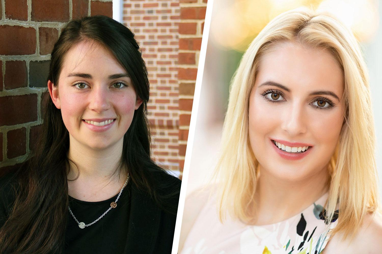 Recent UVA graduates Lauren Bredar, left, and Katherine Pardo have been selected as Rotary International Scholars. (Contributed photos)