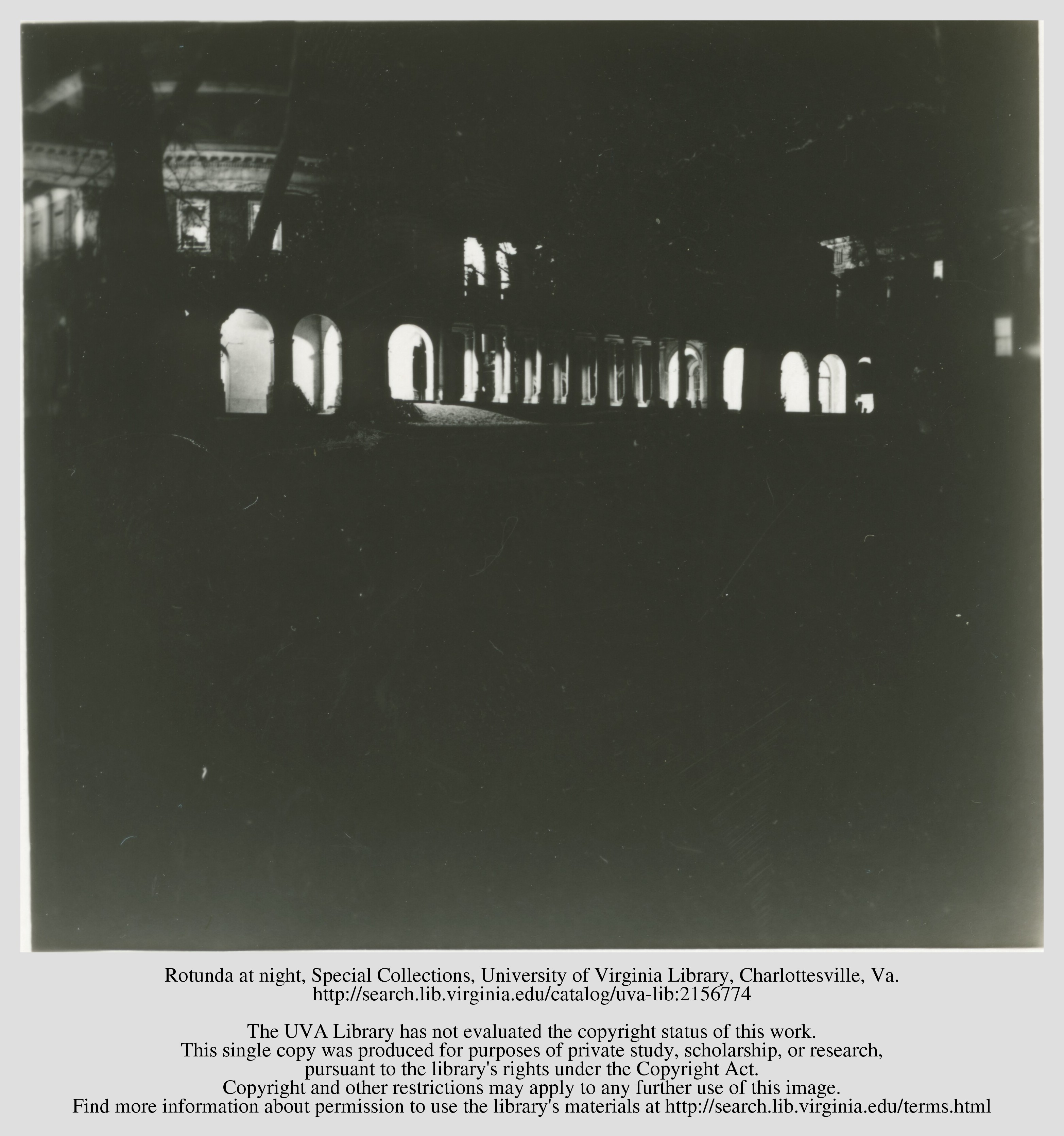 O'Keeffe references the illuminated arches in this photo, taken by George Seward in the 1930s, in her letters.