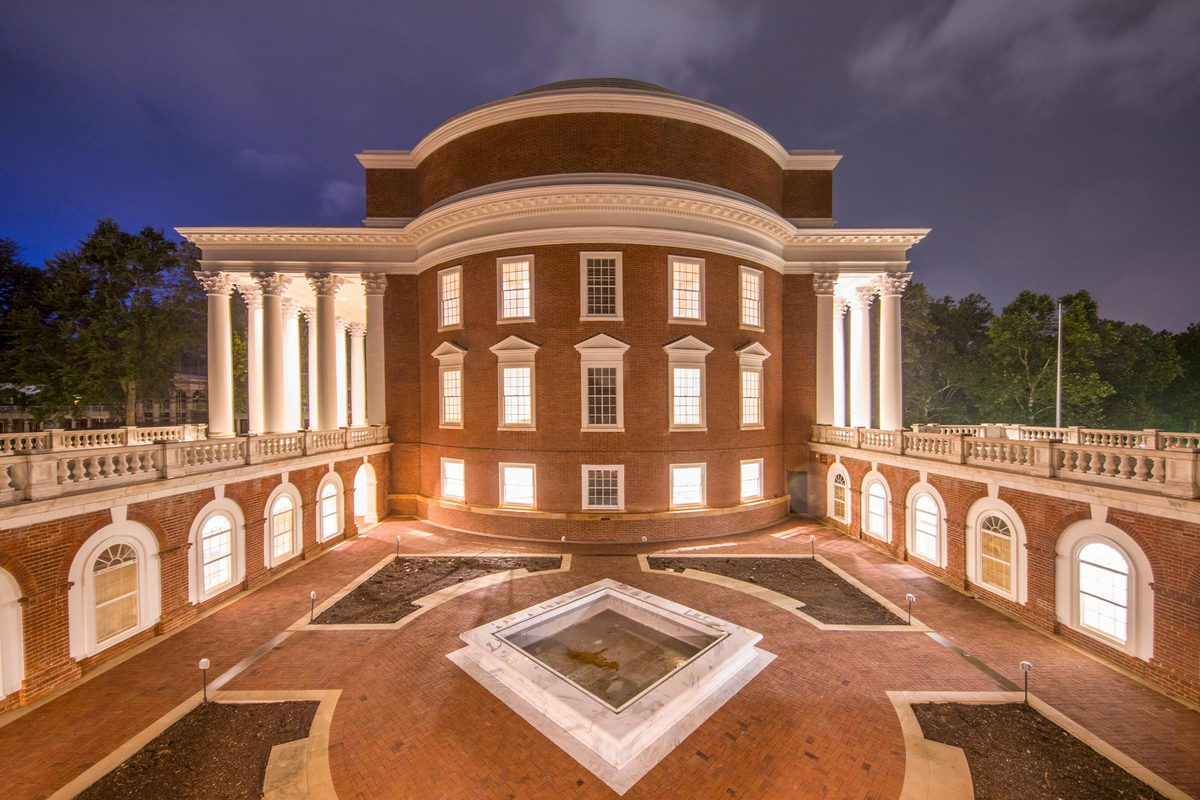 An extensive renovation, completed in 2016, brought new life to UVA's iconic Rotunda. (Photo by Sanjay Suchak, University Communications)