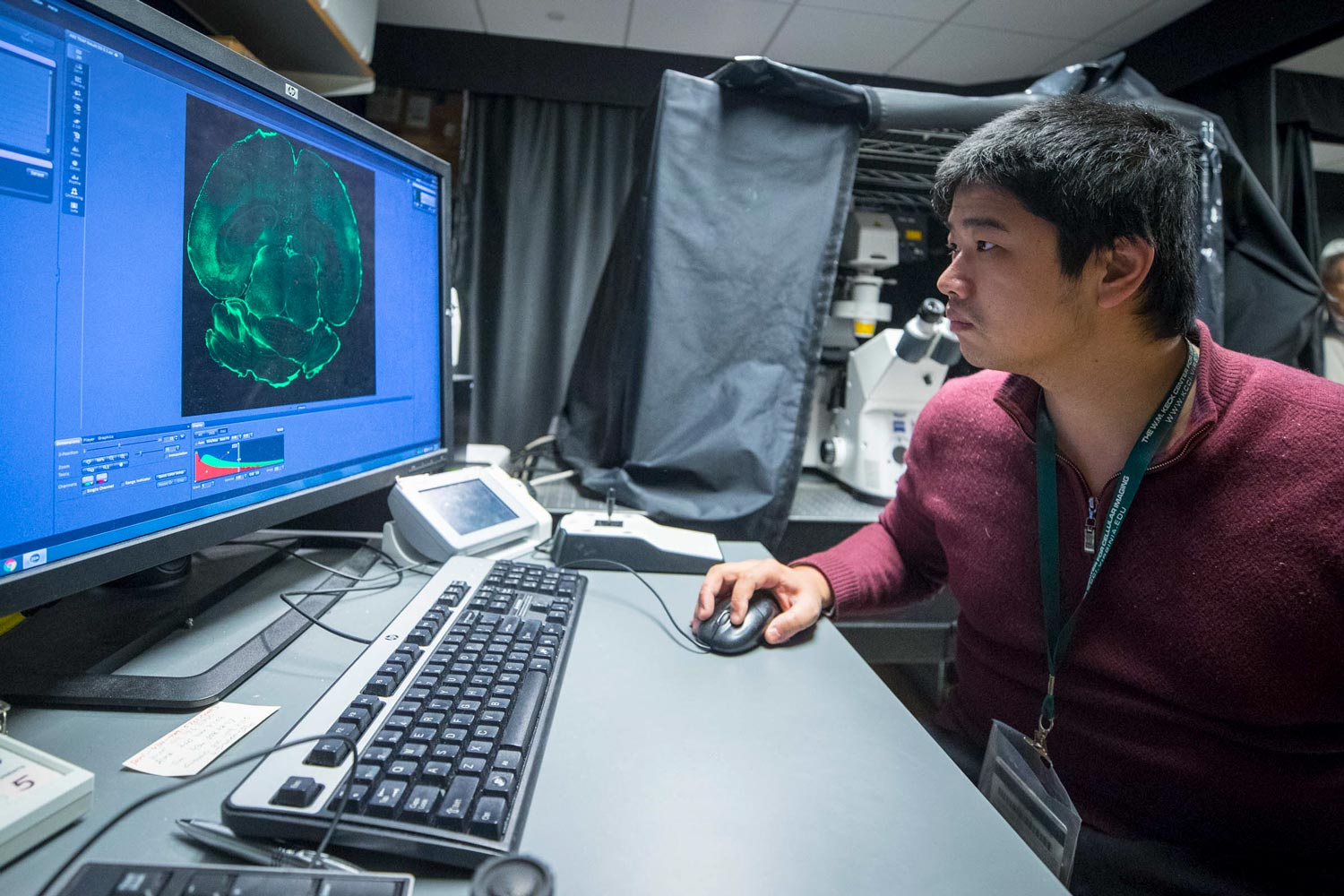 The center's technology allows extreme high-resolution visualizations of the inner workings of cells.
