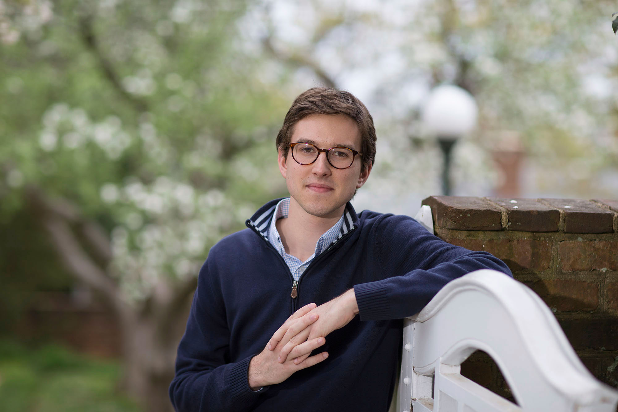 Russell Bogue, a Rhodes Scholar, has been researching two areas: the intersection of politics and economics, and the political opinions of Taiwanese youth.