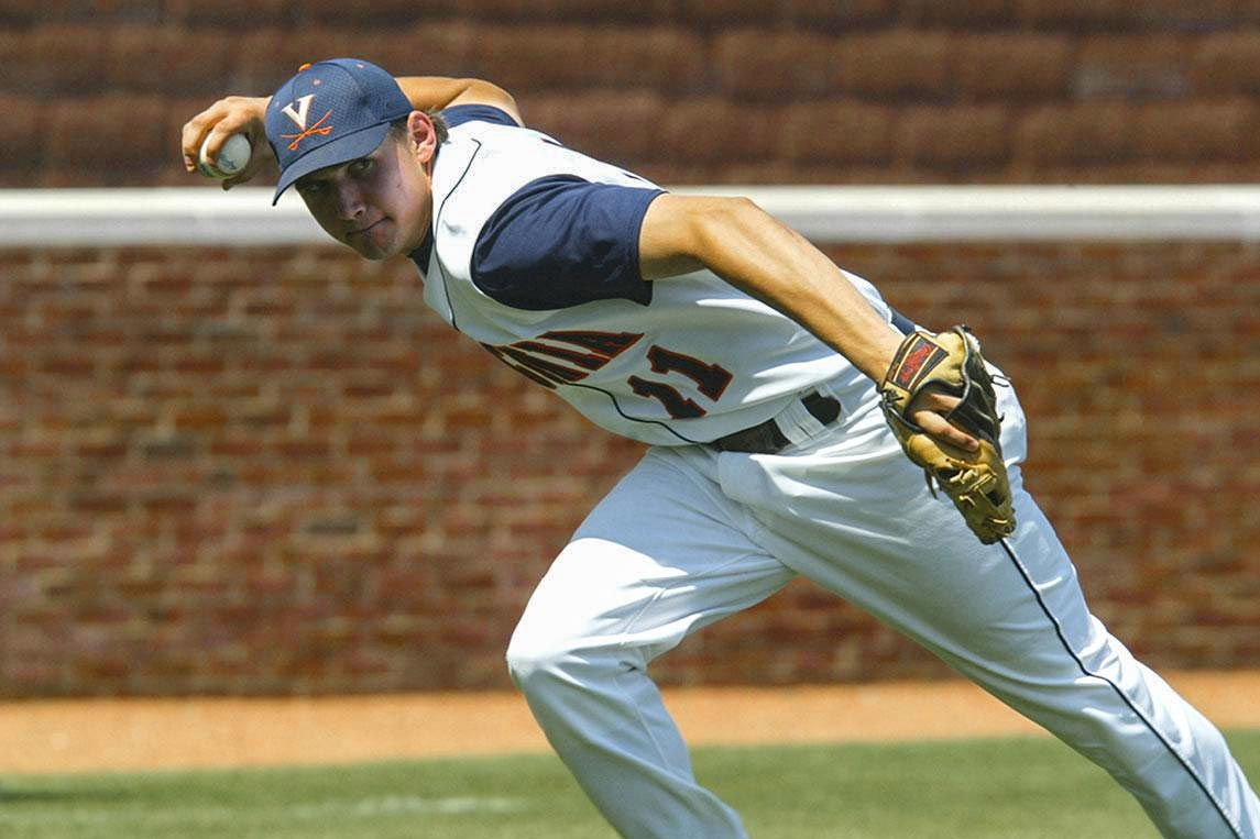 Ryan Zimmerman during his playing days at UVA. (Photo courtesy Virginia Athletics)
