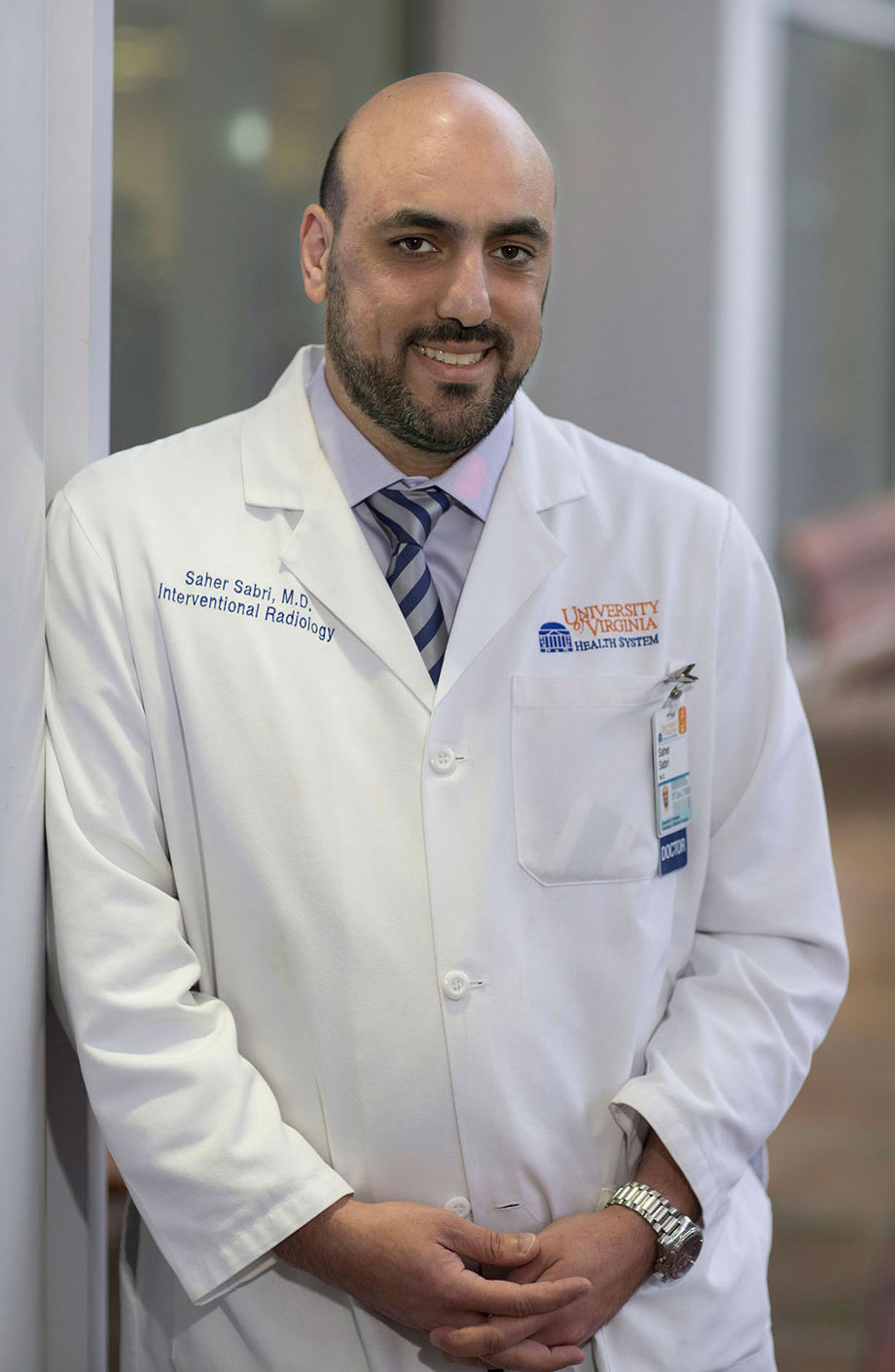 Dr. Saher Sabri, an associate professor of radiology, has led outreach efforts for the Islamic Society of Central Virginia.