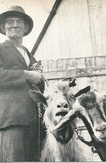 Appalachia resident Sally West, along with his herd of goats, came up in several anecdotes. (Photo provided by Meredith McCool)