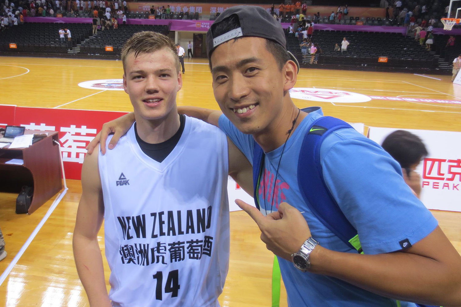 If you haven't figured it out, Sy is Salt's biggest fan. He also traveled to see him play at the 2015 Charleston Classic. He is pictured here in 2013 with Salt at an international basketball invitational in Shenzhen, China.
