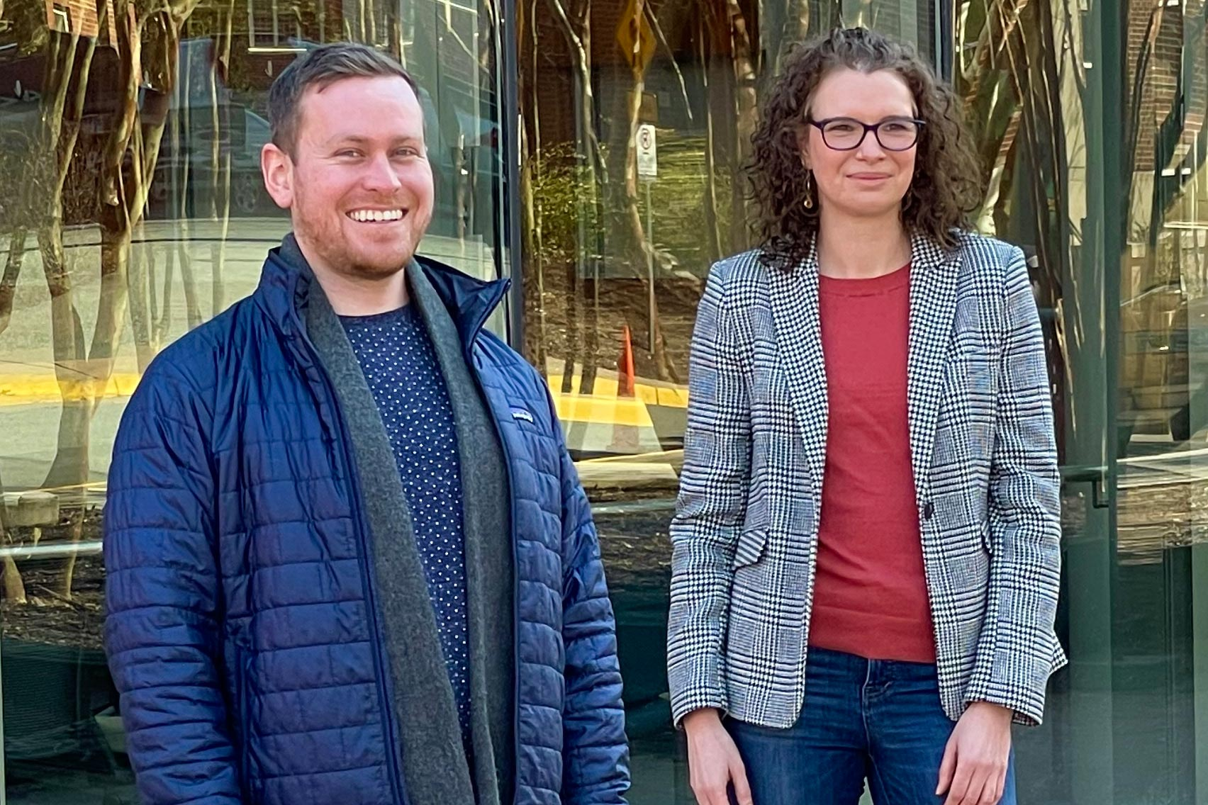 UVA researchers Sean Cuddy and Anna Cliffe are part of a team whose work could lead to new ways to prevent cold sores and herpes-related eye disease from reoccurring. (Photo courtesy Anna Cliffe)