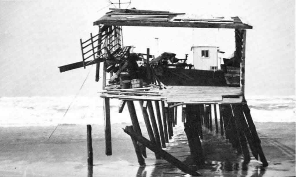 The March 1962 storm washed away most of the Seaport Pier – except where Robert Dolan's research trailer stood.