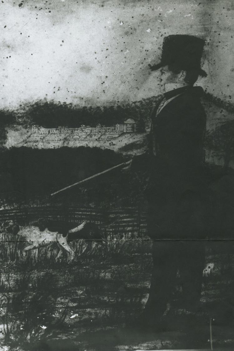 An early image of Grounds. (Photo from the University of Virginia's Special Collections)