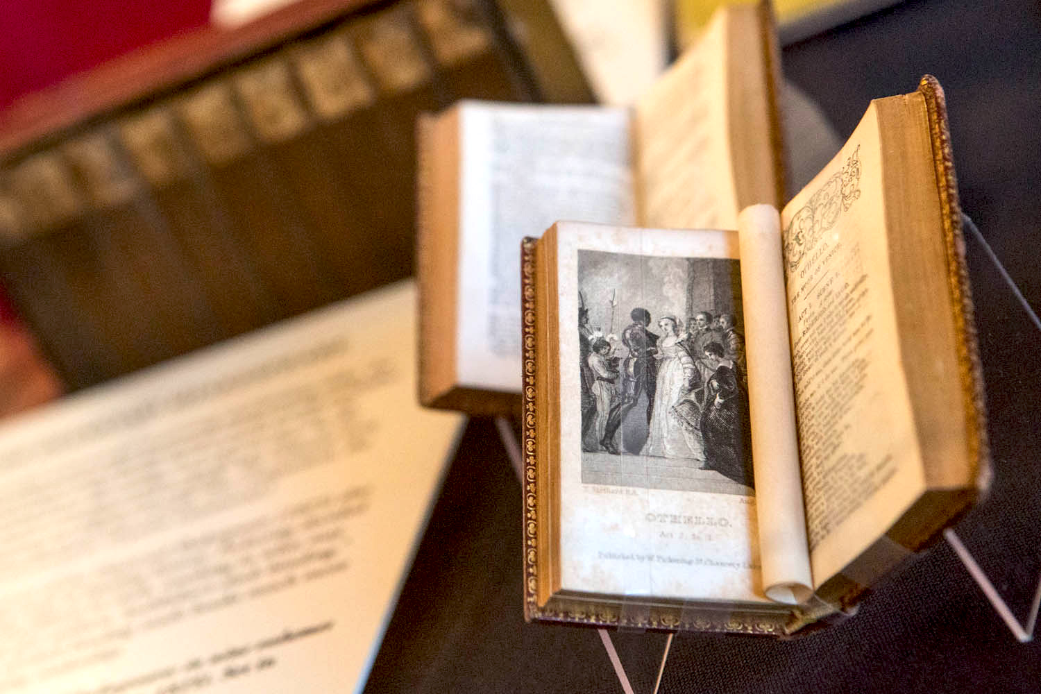 """UVA's Special Collections Library is also displaying an accompanying exhibition of its own notable holdings, """"Shakespeare By the Book."""""""