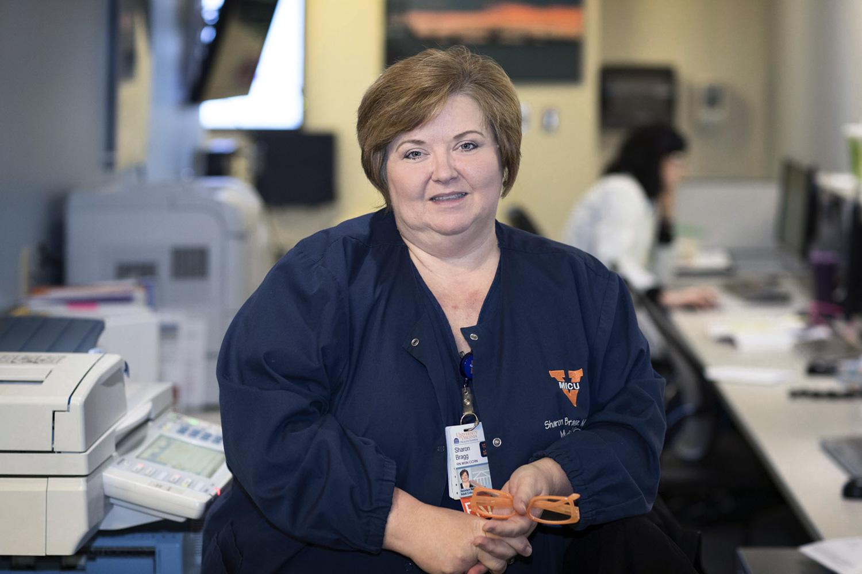 A dedicated lifelong learner, Sharon Bragg has twice earned UVA degrees in December. (Photo by Dan Addison, University Communications)