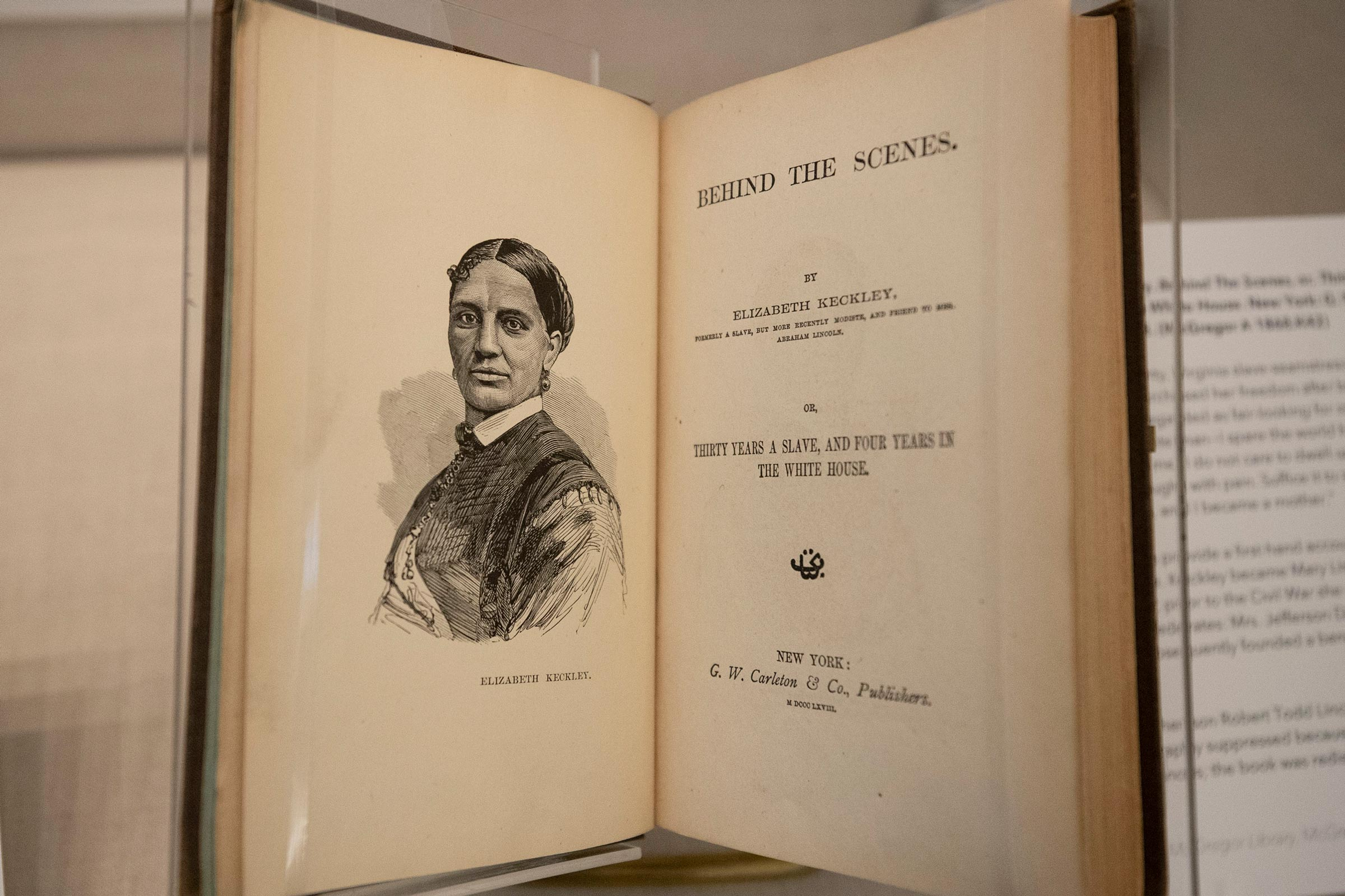 Elizabeth Keckley, an enslaved seamstress who bought her freedom and later became Mary Todd Lincoln's dressmaker, published her memoir in 1868.