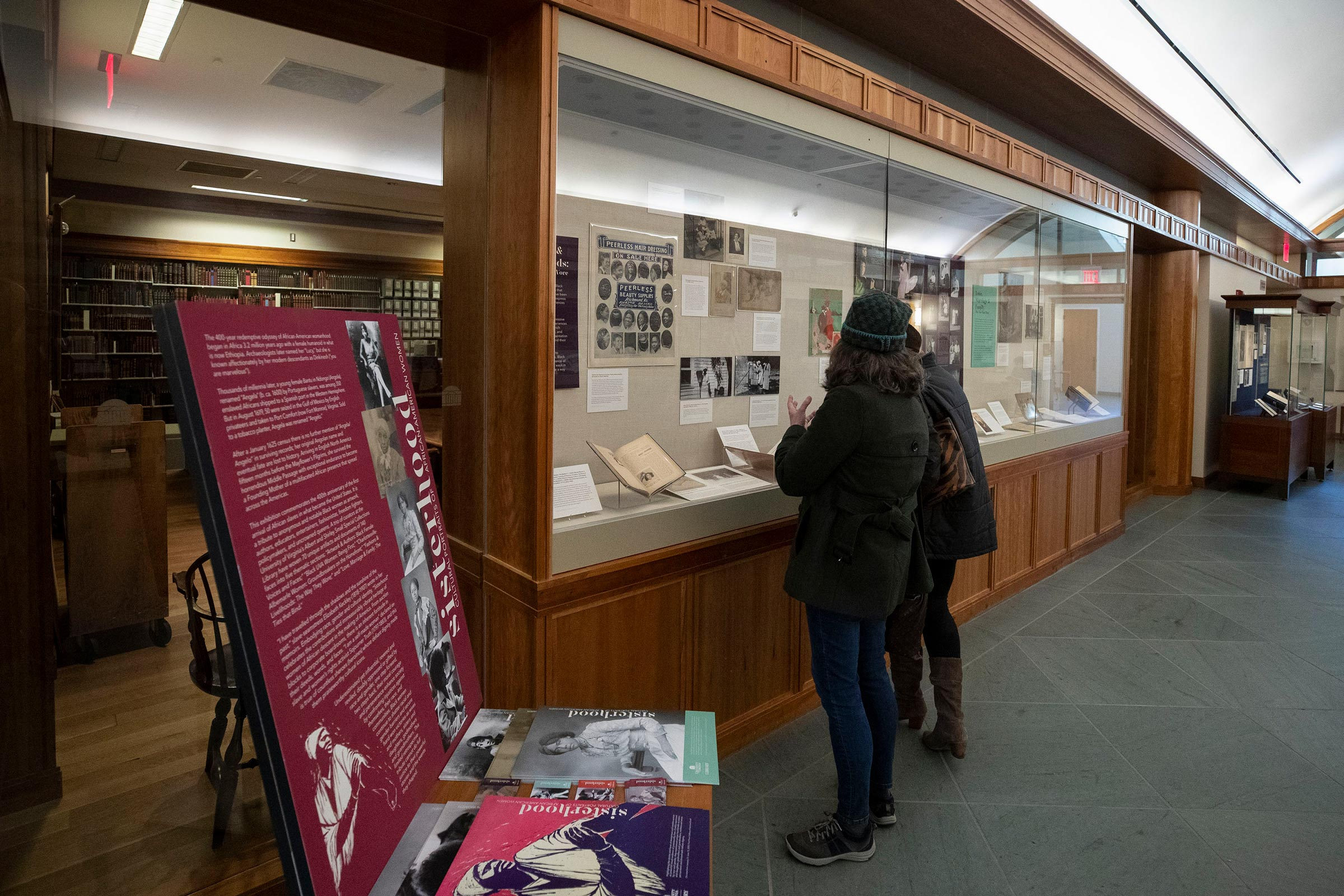 """The """"Sisterhood"""" exhibit, on display until June 13, includes photos, documents and artifacts of African American women in honor of Black History Month."""