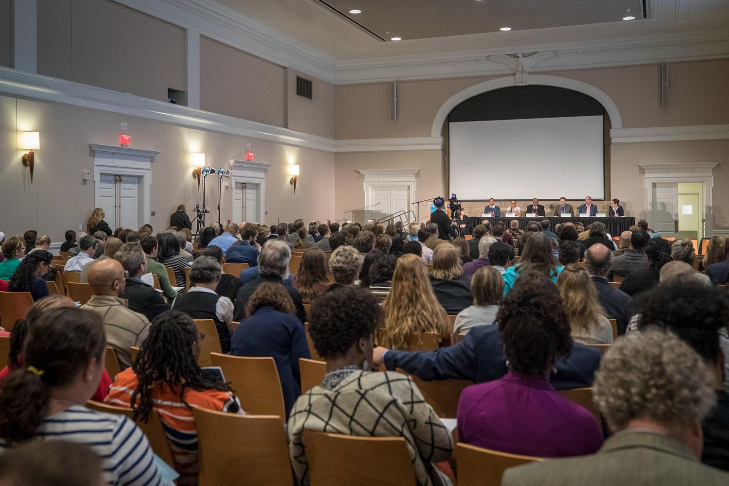 "Nearly 500 attendees from 61 colleges and universities, 17 historic sites and other groups, including descendants of the enslaved are attending the symposium, ""Universities, Slavery, Public Memory and the Built Landscape."""