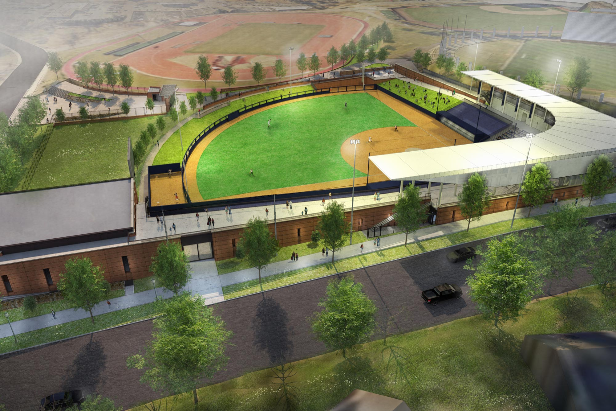 Palmer Park, located adjacent to Lannigan Field, Klöckner Stadium and Disharoon Park, is slated to open in time for the spring softball season.