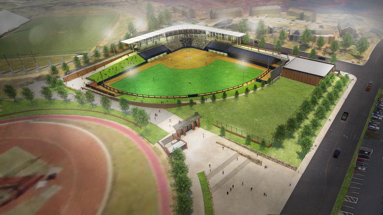 UVA's new softball stadium will be a key addition to the athletics precinct.